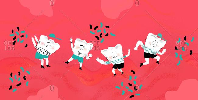 Strong happy teeth