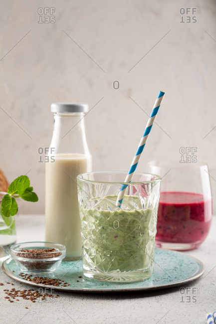 Several smoothie of fruit