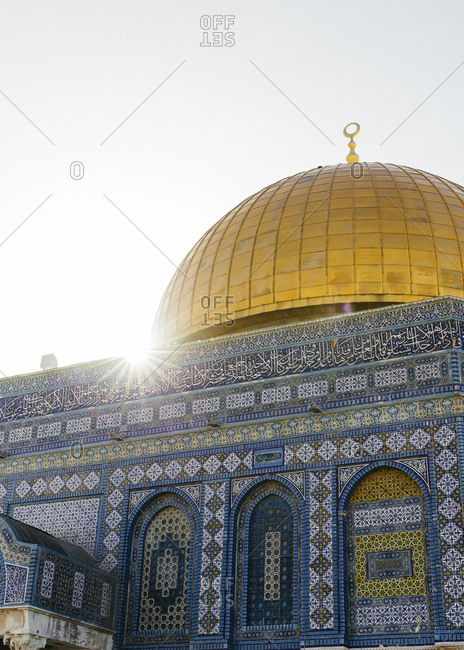 Dome of the Rock mosque, in the Temple Mount at the old city, Jerusalem, Israel.