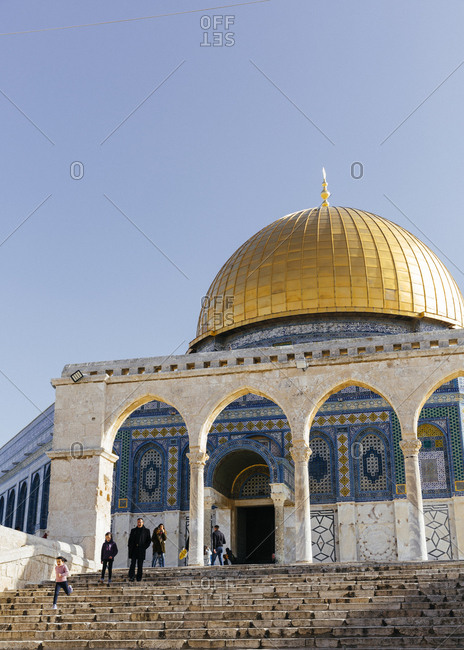 January 21, 2019: Dome of the Rock mosque, in the Temple Mount at the old city, Jerusalem, Israel.
