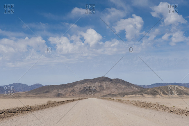 Dirt Road in the Desert,Death Valley, California, USA