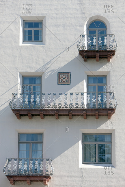 Colonial Era Balconies,St. Augustine, Florida, USA