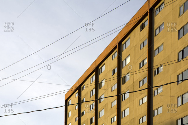 Building Exterior and Power Lines,Seattle, Washington, USA