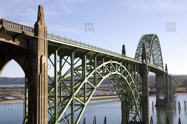 Bridge Crossing the Rogue River, Highway 101, Oregon,Cape Sebastian, Oregon, USA
