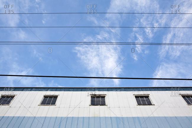 Warehouse and Power Lines, Seattle, Washington,Seattle, Washington, USA