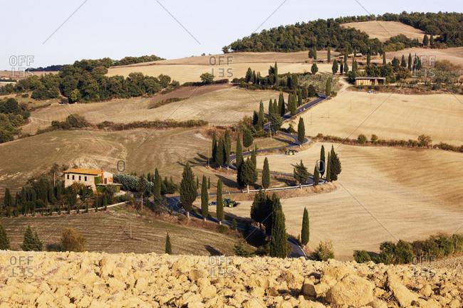 Winding Road,Monticchiello, Tuscany, Italy