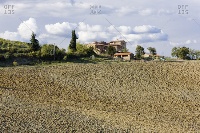 Farmhouse and Field,Chianti Region, Tuscany, Italy