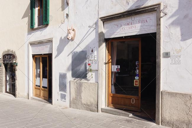 March 12, 2019: Macelleria,Panzano, Tuscany, Italy