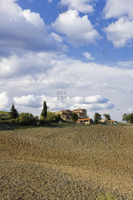 Farmhouse and Field,Tuscany, Italy
