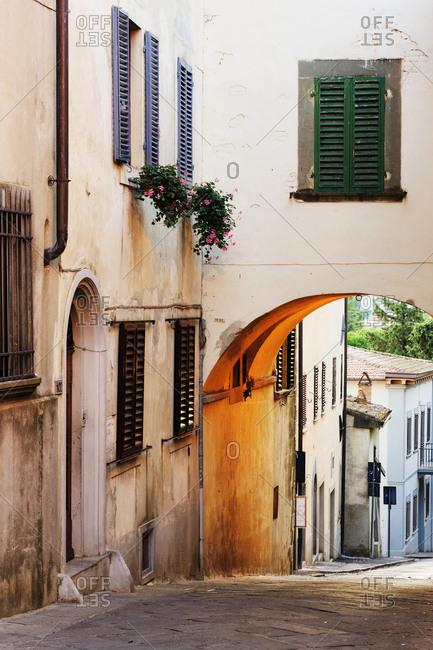 Street Scene,Panzano, Tuscany, Italy - Offset