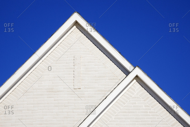 Two Gabled Rooflines,McKinney, Texas, USA