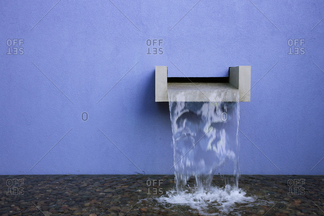 Water Pouring into Pool,Fort Worth, Texas, USA