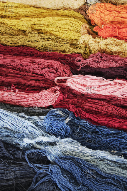 Stacks of Colorful Wool,Oaxaca, Mexico