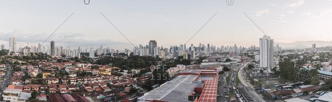November 23, 2018: Panama- Panama City- panoramic city view