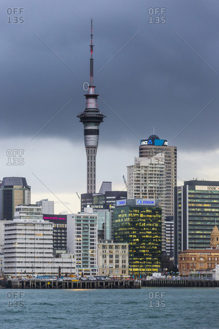 May 26, 2016: New Zealand- Auckland- Skyline and Sky Tower