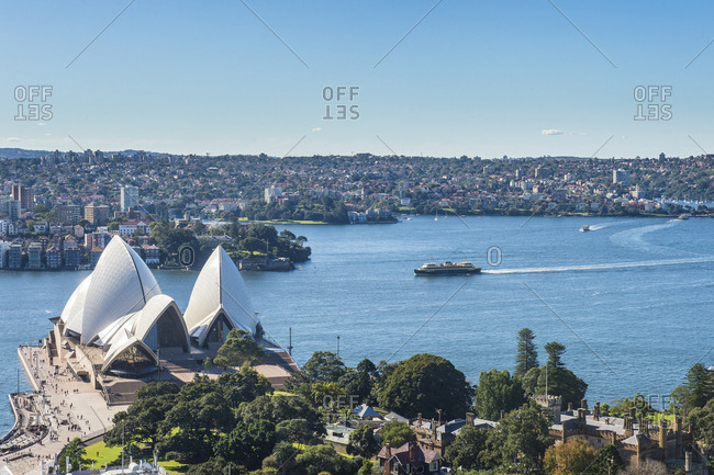 June 10, 2016: Australia- New South Wales- Sydney- Overlook over Sydney harbor and the Sydney Opera House