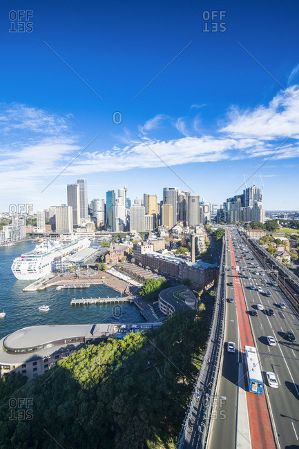 June 11, 2016: Australia- New South Wales- Sydney- View from harbor bridge
