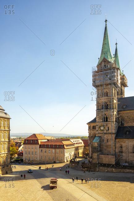 October 4, 2018: Germany- Bavaria- Bamberg- Bamberg Cathedral
