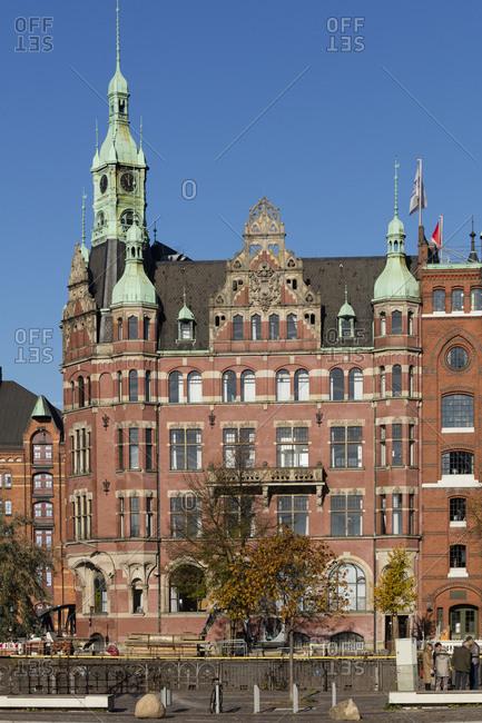 November 3, 2018: Germany- Hamburg- Speicherstadt- Speicherstadt town hall