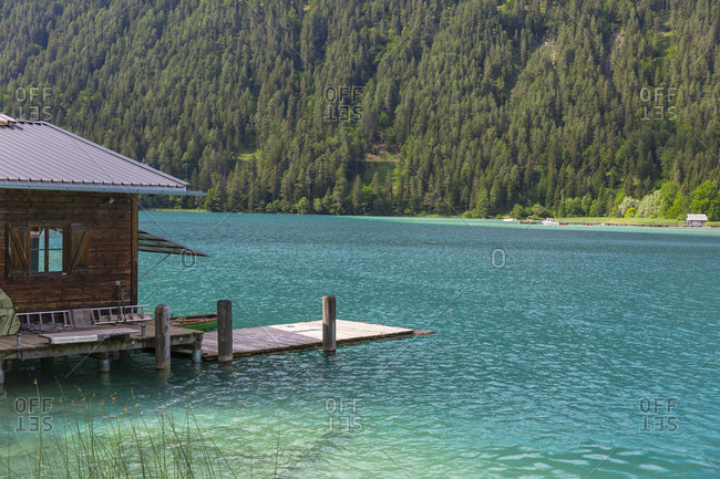 Austria- Lake Weissensee and boat house