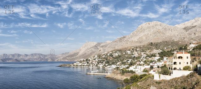 Greece- Kalymnos- coastal town