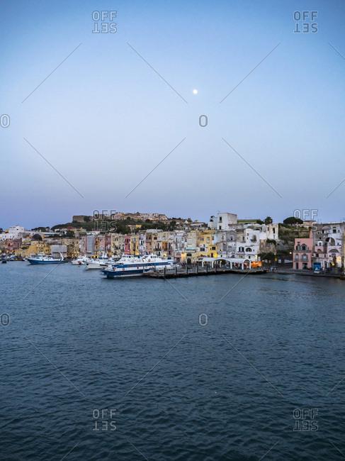 Italy- Campania- Naples- Gulf of Naples- Procida Island- Marina di Sancio Cattolico in the morning light