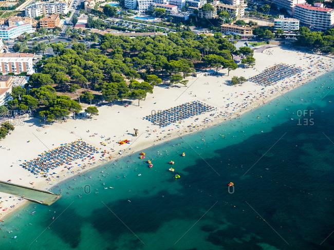 Spain- Baleares- Mallorca- Aerial view of Santa Ponca