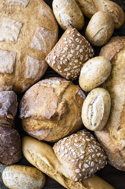 Various sorts of bread- close-up