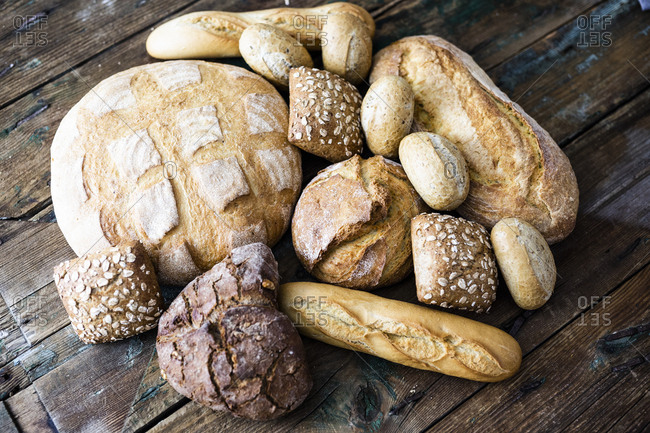 Various sorts of bread
