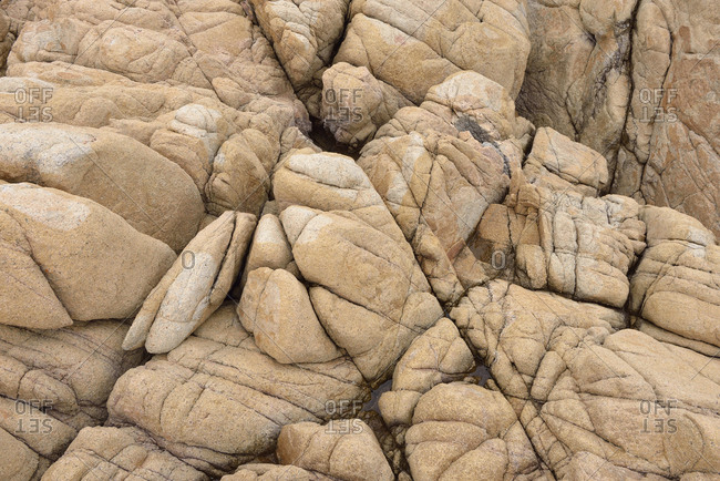 Italy- Sardinia- Granite rock near Cala Rossa
