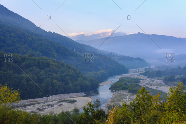 Montenegro- Andrijevica- Lim Valley in the morning light