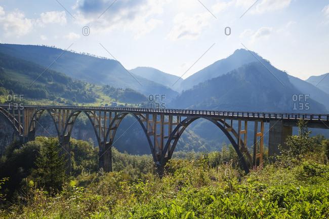 Montenegro- Pljevlja province- Durmitor National Park- Tara Canyon- Durdevica Tara Bridge
