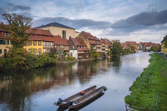 Germany- Bavaria- Bamberg- Little Venice and Regnitz river