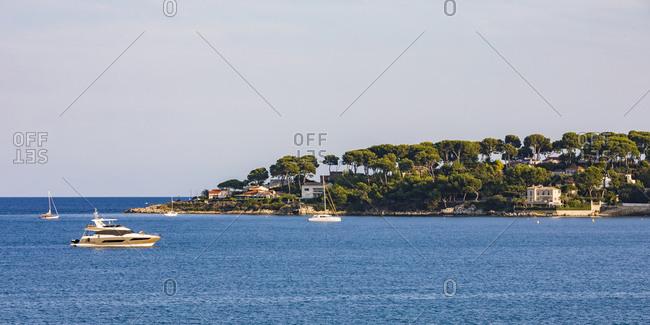 France- Provence-Alpes-Cote d'Azur- Antibes- Peninsula Cap d'Antibes- motor yachts