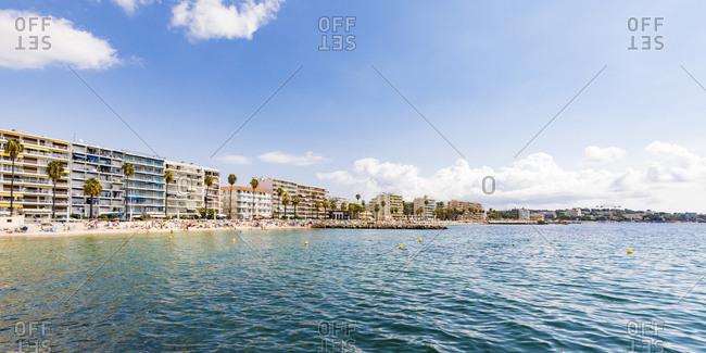 France- Provence-Alpes-Cote d'Azur- Juan-les-Pins- beach and hotels