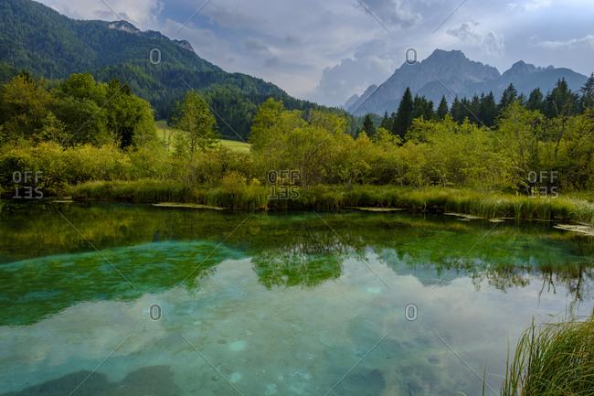 Slovenia- Gorenjska- near Ratece- Sava Dolinka- source- Lake Zelenci