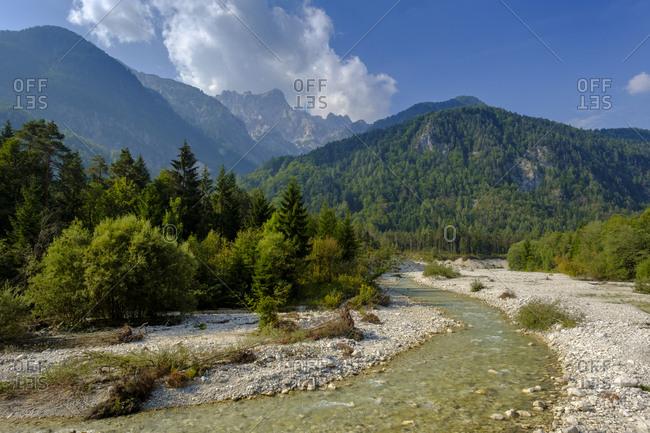 Slovenia- Gorenjska- Triglav National Park- Sava Dolinka- headwater