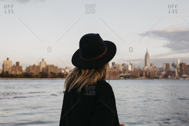 USA- New York- New York City- Brooklyn- woman with hat