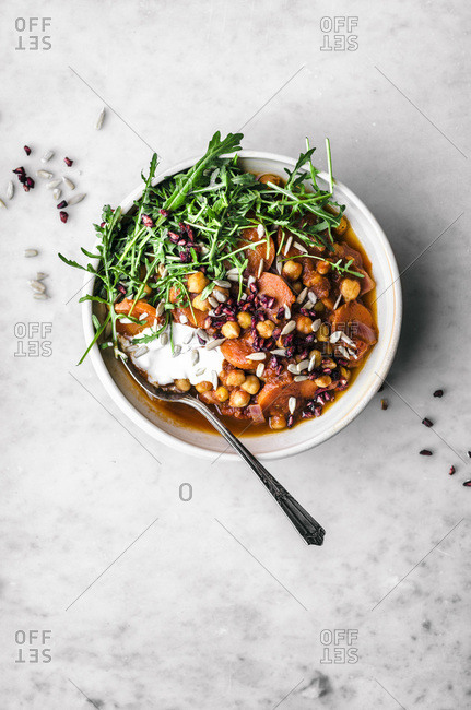 Moroccan Carrot Chickpea Stew
