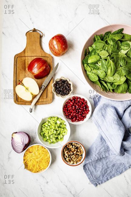 Apple Salad Ingredients