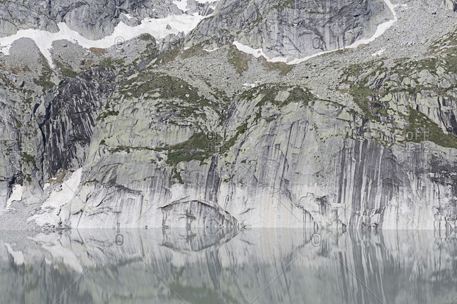 Lake Albigna, Lagos dell 'Albigna Reservoir, Regalia, Graub�nden, Switzerland