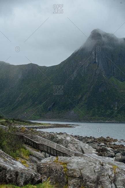 Walkway on Norwegian coast