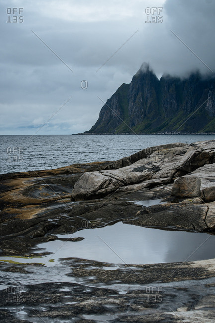 Cloudy day on the Norwegian coast