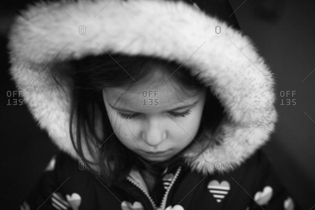 Girl in a winter coat