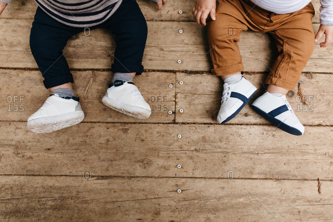 Little boys' feet