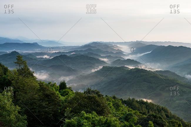 Qionglai city, sichuan province tai township scenery