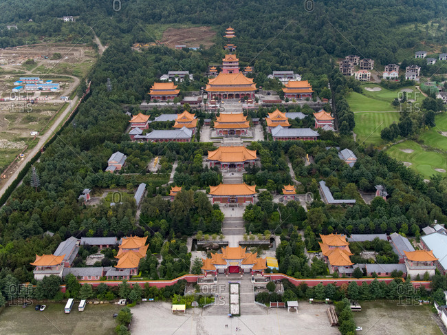 August 26, 2017: The footprints temple in yunnan province