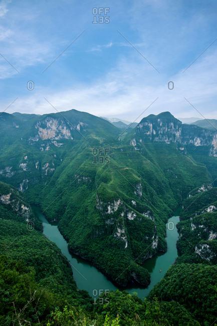 Chongqing YunYang dragon cylinder scenery