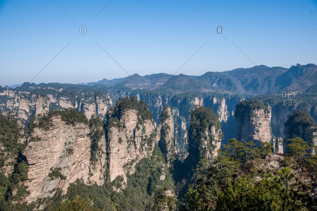 Zhangjiajie in hunan province is the son of heaven mountain scenery