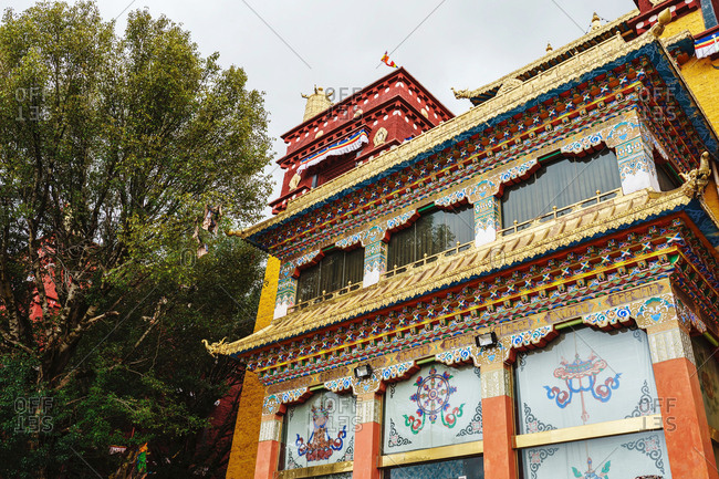 Long youth cole temple of litang county of sichuan province